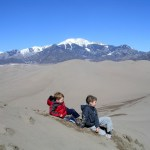 Great Sand Dunes NP top of the ridge