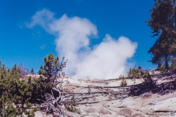 Yellowstone NP Steamboat Geyser