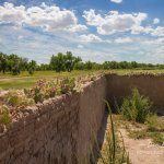 Bent's Old Fort corral walls