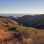 Santa Monica Mountains NRA Pacific Ocean from Rising Sun Trail