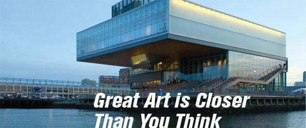 ICA Boston Institute of Contemporary Art Free Community Day fun with kids ILoveNewton.com I Love Newton