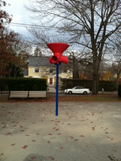 Funnel Ball playground equipment game like basketball Newton ILoveNewton Peirce Elementary School