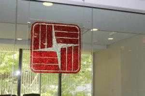 glass mosaic corporate logos, corporate logo mosaics