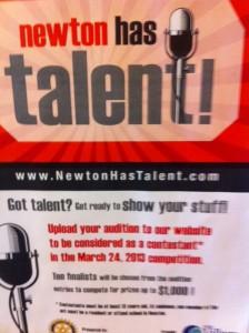Newton talent show, Newton talent, Newton has talent