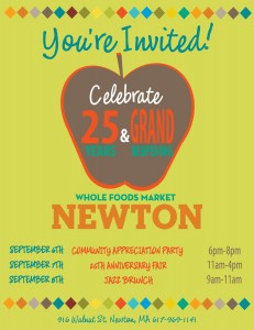 Whole Foods Newton 25th Celebration