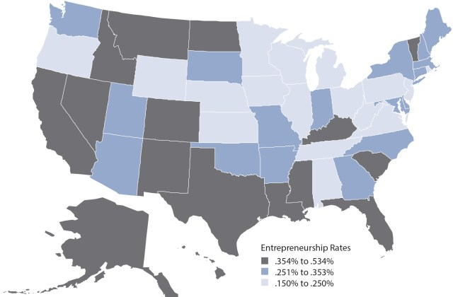 Kauffman Foundation, Index of Entrepreneurial Activity, 1996–2012