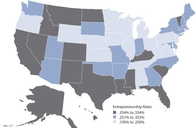 Kauffman Foundation, Index of Entrepreneurial Activity, 1996–2012