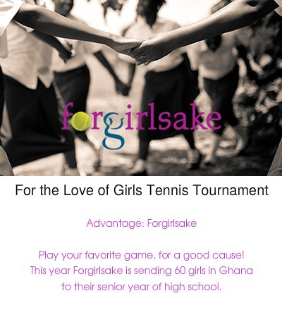 Forgirlsake Women's Doubles Tennis Fundraiser