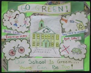 3rd Grade: Audrey Gagnon, Franklin, green decade Newton student art contest