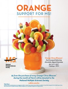 Orange Citrus Blossom, National MS society