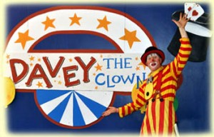 Davey the Clown performing free in Newton Centre