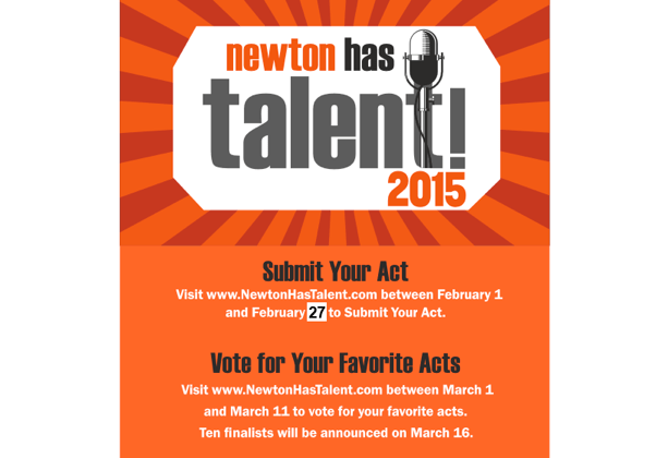 Newton Has Talent: Apply by Midnight Tonight!