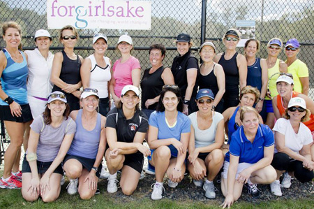 Forgirlsake Women's Doubles Tennis Open Charity Event