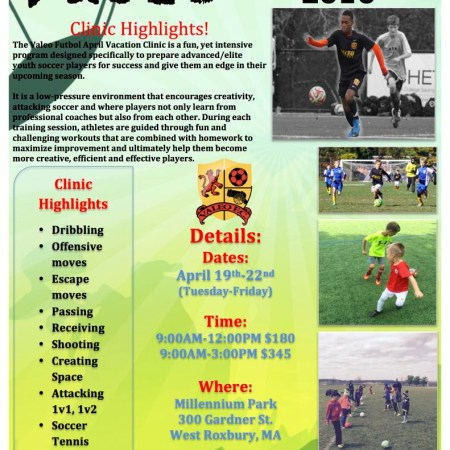 Valeo April Vacation Soccer Clinic