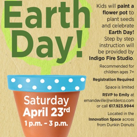 WatertownMA: Free Earth Day event for kids tomorrow at Arsenal Center for the Arts 1-3pm.