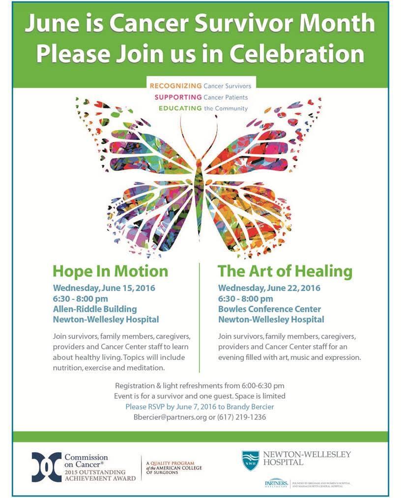 Cancer Survivor Month: Please Join Us