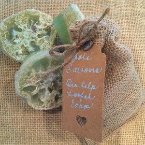 sea kelp loofah soap joli savons