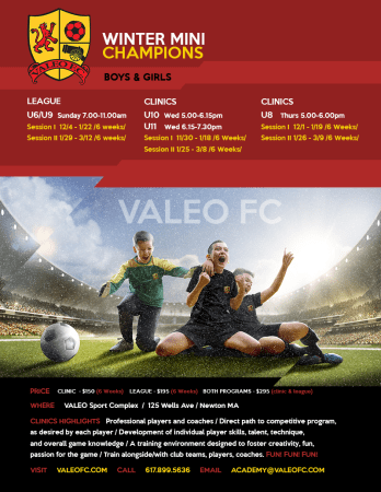 Valeo FC Winter Mini Champions NOW AVAILABLE!