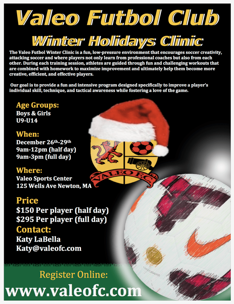 Valeo FC Winter Holiday Clinic