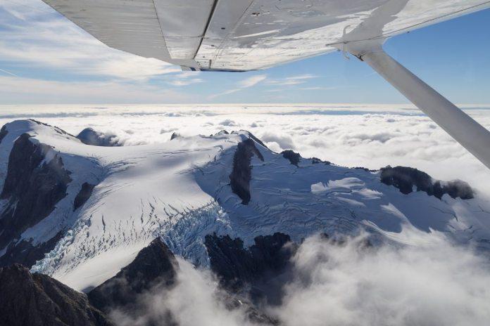 Aerial view Mount Aspiring