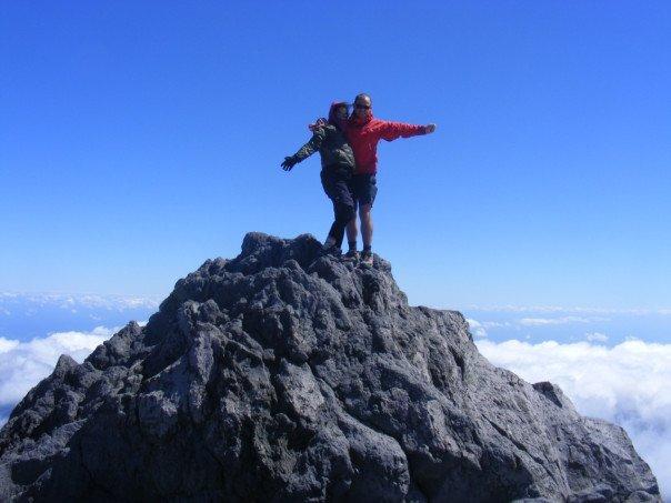 steph on summit taranaki
