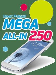 Smart Prepaid MEGA250 Unli Call & Text Promo