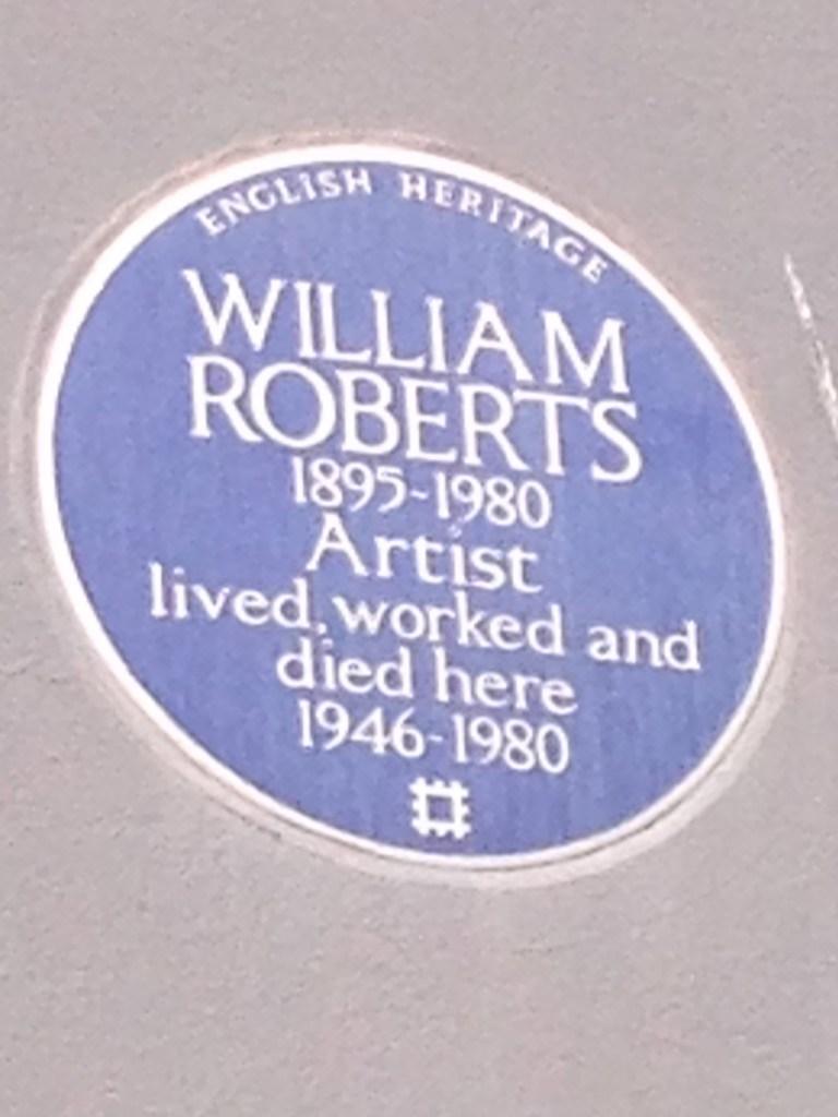 William Roberts's' Plaque