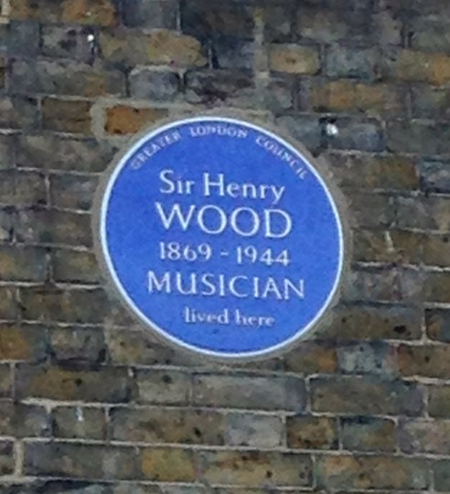 BLUE PLAQUE FOR HENRY WOOD, FOUNDER OF THE PROMS.