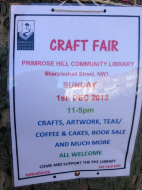 CRAFT FAIR AT THE LIBRARY.   © 2013 iLovePrimroseHill.com, all rights reserved.