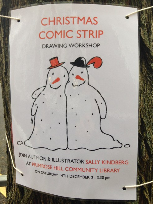 COMIC STRIP DRAWING WORKSHOP.   © 2013 iLovePrimroseHill.com, all rights reserved.
