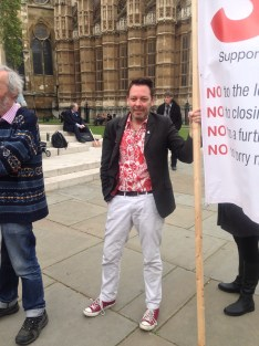 PHIL COWAN PROTESTS