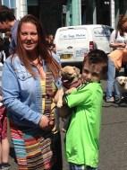 DOG SHOW WINNER HONEY AND FAMILY