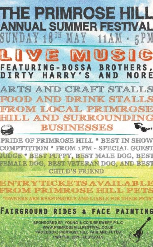THE PRIMROSE HILL FESTIVAL, 18 MAY 2014