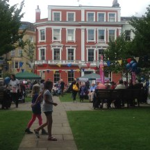 CHALCOT SQUARE, THE HUB OF THE ACTION