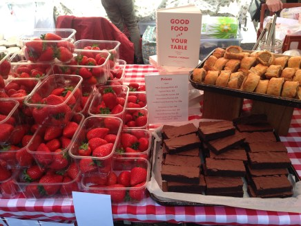 Massive strawberries and fab brownies at the Melrose & Morgan stall