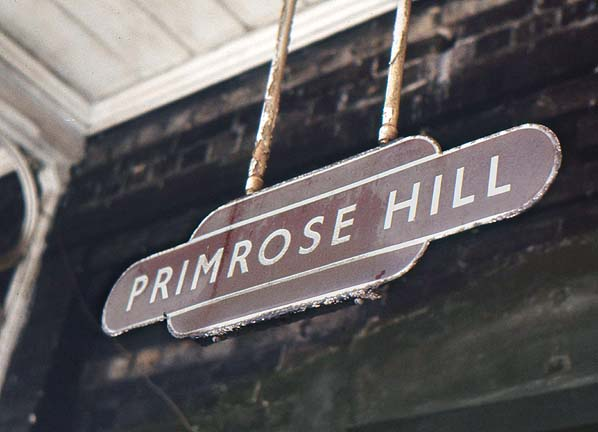 PRIMROSE HILL STATION SIGN, photo by Nick Catford.