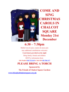 CAROLS IN CHALET SQUARE, 21 DECEMBER