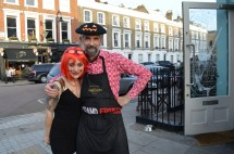 JC AND JULIETTE AT L'ABSINTHE READY FOR HALLOWEEN