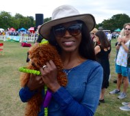 SINITTA AND HER GORGEOUS PUP