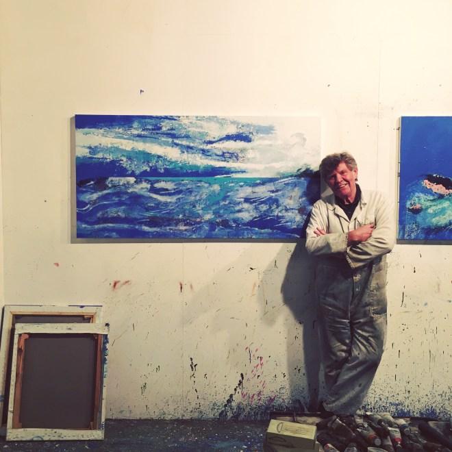 ADRIAN HEMMING IN HIS STUDIO, ANGEL, LONDON
