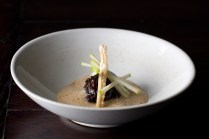 Glazed pork cheek, apple & lobster bisque £10 (2012-2014)