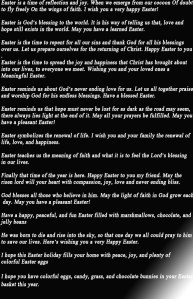 Best Easter wishes messages