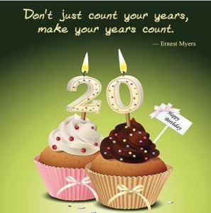 Best 100 Happy 20th Birthday Wishes