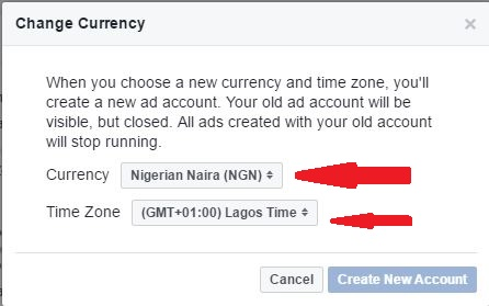 How to run facebook ad in Naira Successfully