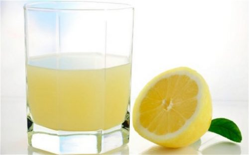 drinking lemon juice every morning