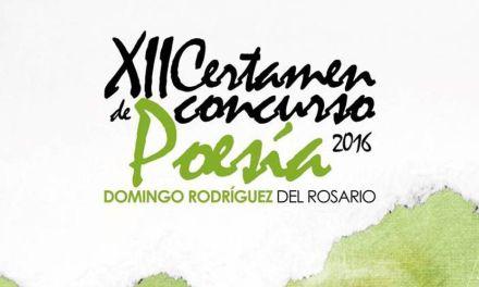 XII Certamen – Concurso de Poesía «Domingo Rodríguez del Rosario»