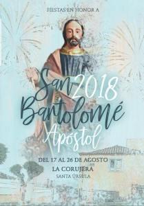 Cartel Fiestas San Bartolomé La Corujera 2018