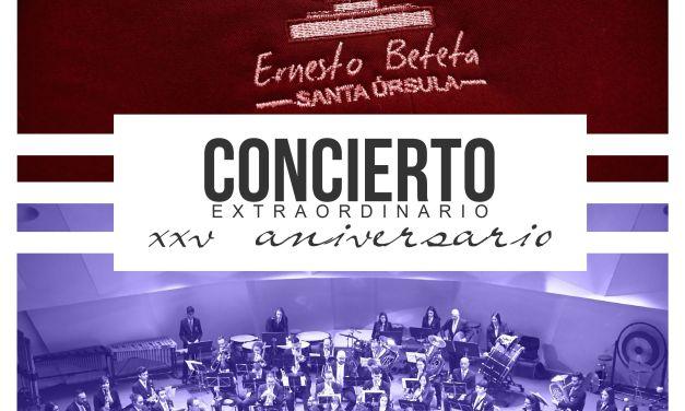 La Banda de Música «Ernesto Beteta» dará el concierto grande de las Fiestas Patronales