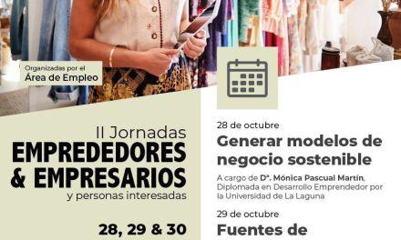 El Ayuntamiento celebra del 28 al 30 de octubre las II Jornadas para Emprendedores y Empresarios
