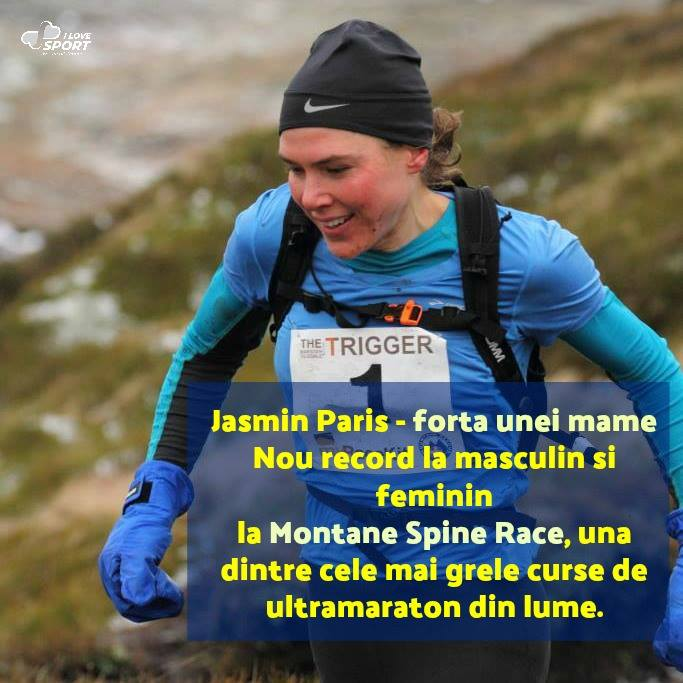 Jasmin Paris, Mountane Spine Race, Record